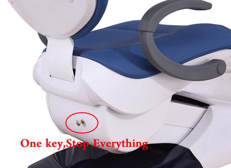 R7 dental chair Safety Key